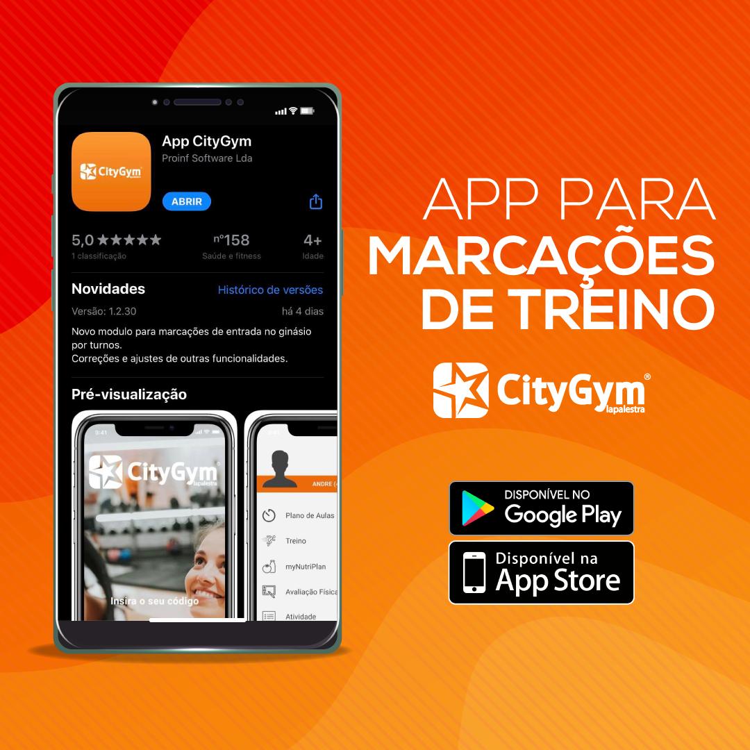 App para marcações de treino no CityGym