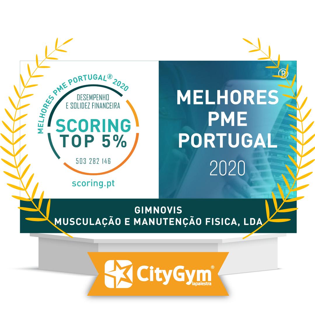 """Certificação """"TOP 5% MELHORES PME DE PORTUGAL"""", edição 2020"""